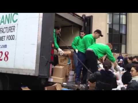 EcoMeal Organic Food Drive for Brighton Beach in Brooklyn New York after Hurricane Sandy