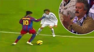 El día que Ronaldinho fue aplaudido por los aficionados del Real Madrid