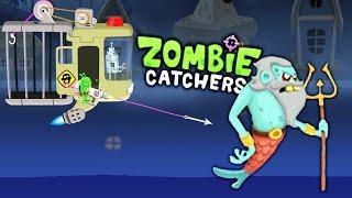 ОХОТА НА ПОСЛЕДНЕГО ЗОМБИ БОССА обитающего в Лагуне! Весёлая игра Zombie Catchers от Мобика
