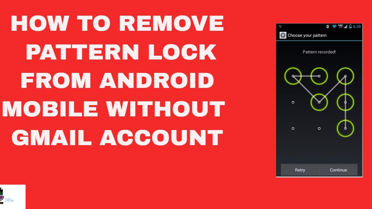 How to unlock android phone pattern lock with google account
