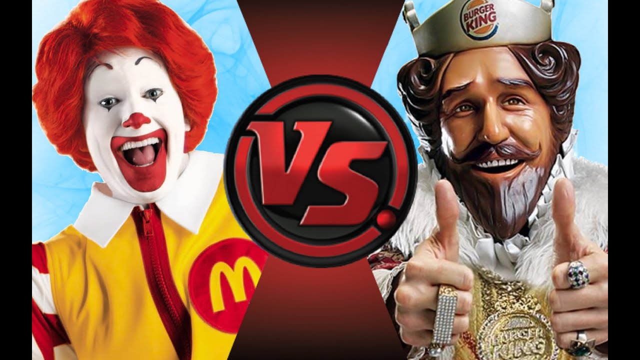 RONALD McDONALD vs BURGER KING! Cartoon Fight Club Episode ...