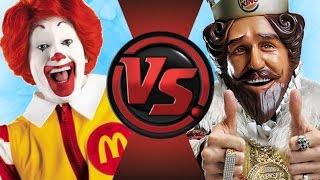RONALD McDONALD vs BURGER KING! De Dibujos Animados De El Club De La Pelea Episodio 79