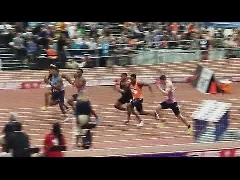 2018 USA indoors men's 60 meter final World Record!!