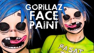 Gorillaz 2D Face & Body Paint Tutorial