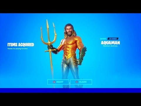 Comment Obtenir Le Skin Aquaman Sur Fortnite Saison 3 Youtube