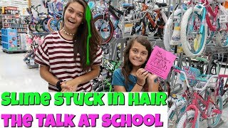 Getting Slime Stuck in My Hair! The Talk in 4th Grade? | Emma and Ellie