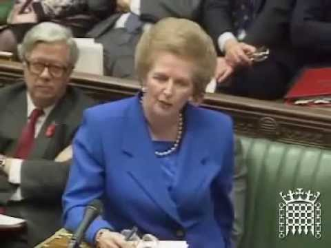Margaret Thatcher : No, No, No (to the European Economic and Monetary Union).