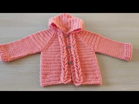 How to crochet a baby children's cardigan sweater jacket