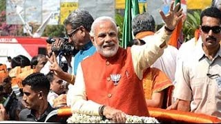 Narendra Modi begins roadshow in Vadodara before filing nomination