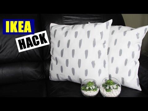 DIY Ikea Hack | Easy DIY Pillows | Cheap And Easy DIY Throw Pillow | DIY Home Decor