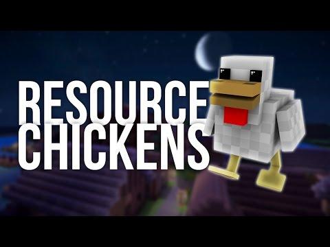 Resource Chickens In Minecraft