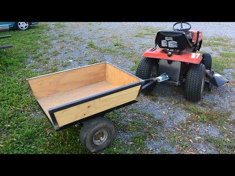 Lawn tractor trailer build