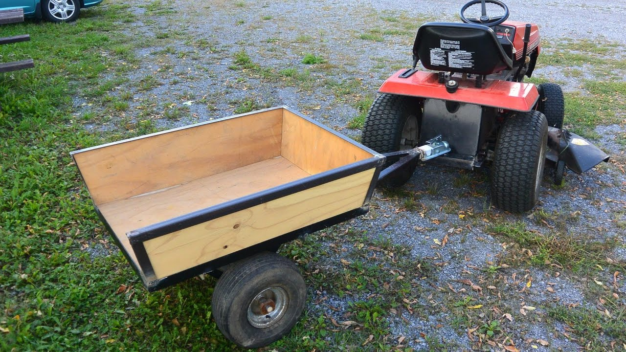 diy wood homemade under garden equipment cart tractor trailer hauling