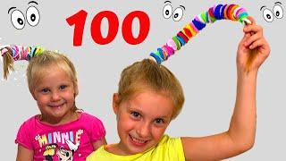 100 gumica CHALLENGE. Challenge sa tatom.