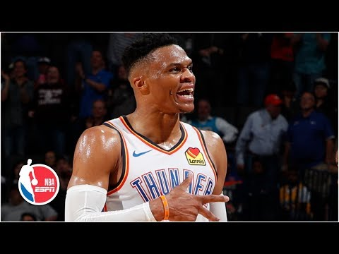 Russell Westbrook makes NBA history with 20-20-20 game | Thunder vs. Lakers | NBA Highlights thumbnail