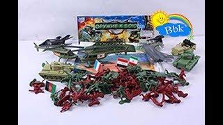 Домашние сражения игрушек ↑ Военные солдатики, гибкий трек, машины, танки ↑ Обзор игрушек