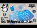 How to make an Ice Princess Dress Invitation | DIY kids party invitations