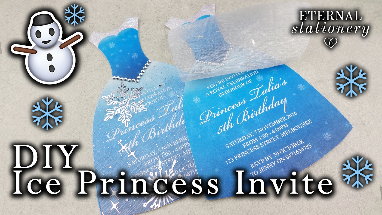 How To Make An Ice Princess Dress Invitation DIY Kids