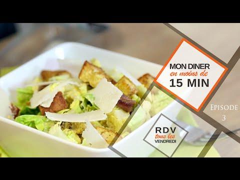 Salade César en moins de 15 Minutes