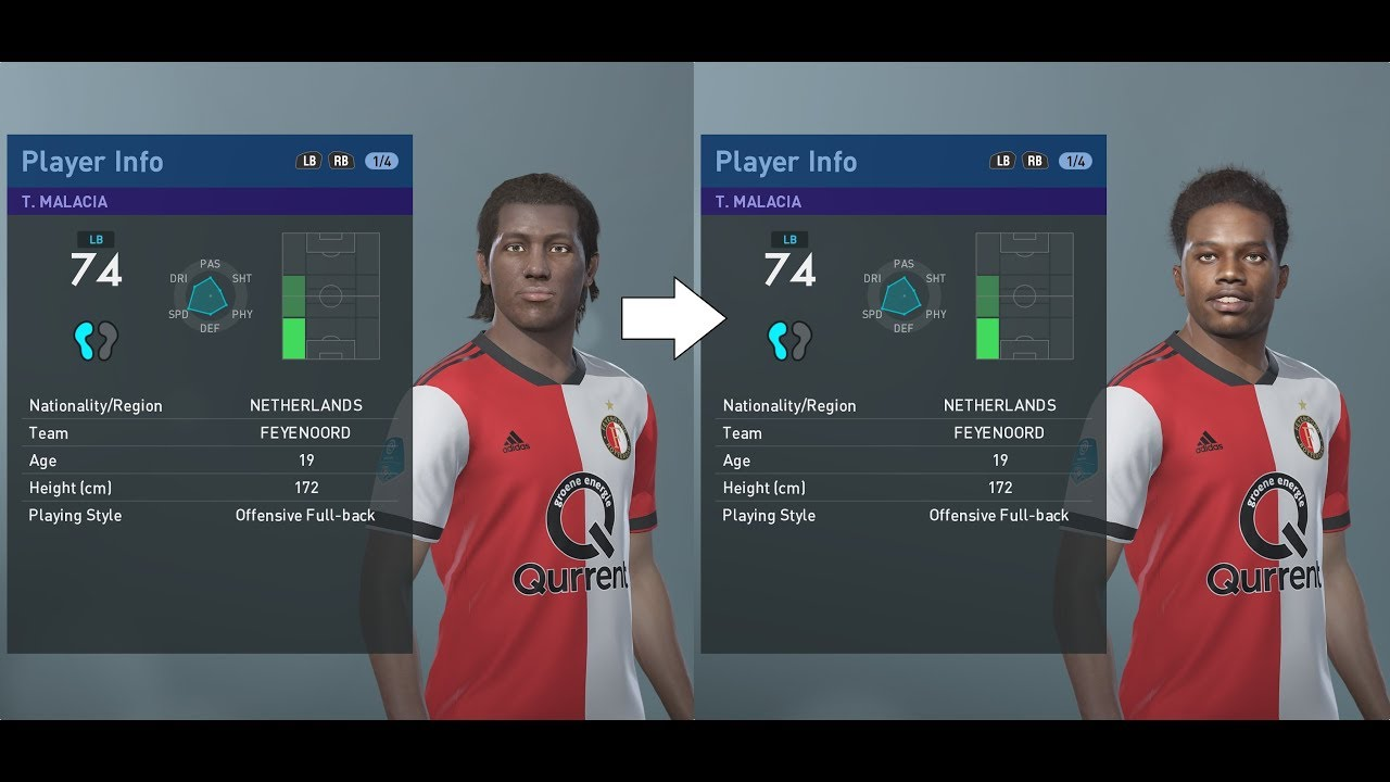 PES 2019 facepack part 7 - Other European leagues and teams real faces  added (PC)