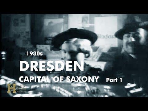 """Germany 1930s ▶ Dresden at Night """"Ein abendlicher Streifzug durch Dresden"""" (1) Capital of Saxony"""
