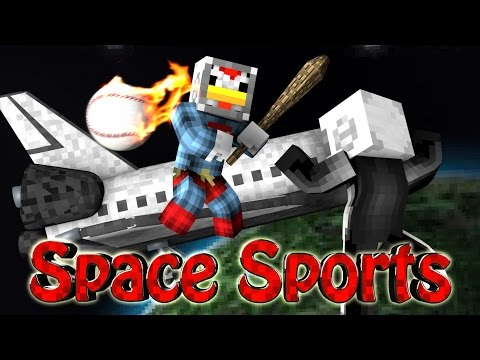 Minecraft | SPACE BASEBALL CHALLENGE - Space vs Baseball! (Sports Mod)
