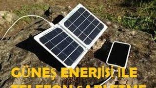 Güneş Enerjisinden Telefon Şarj Etme Projesi - solar energy