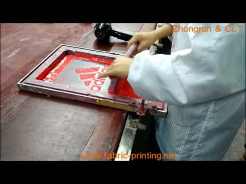 Test Screen Printing on Denim Fabric with PU Base Water Based Ink