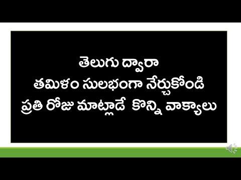 How To Say Simple Telugu Sentences In Tamil?   Spoken Tamil Through Telugu   KVR Institute