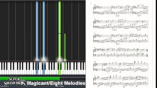 Super Smash Bros. 4 - Magicant/Eight Melodies (Synthesia Piano Tutorial)