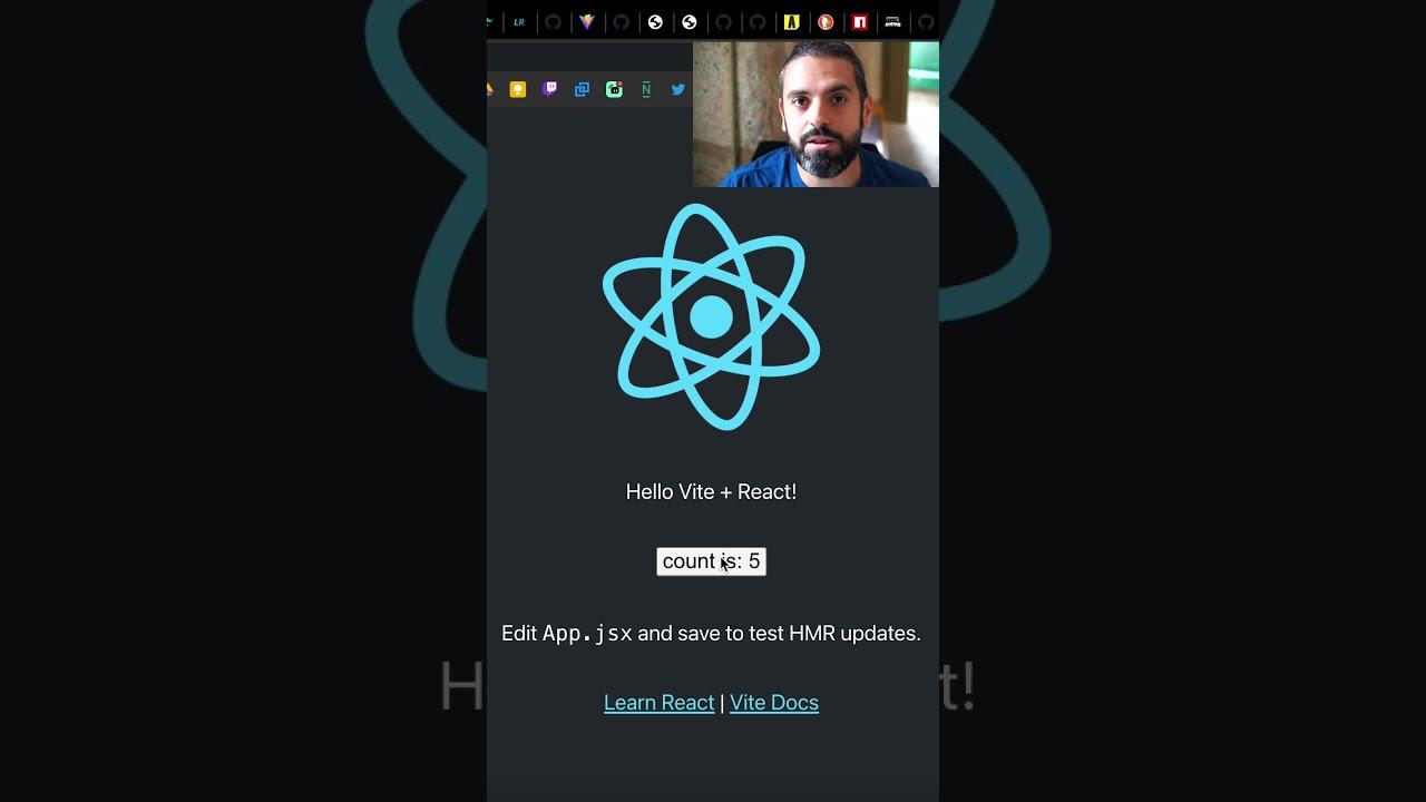Crea un proyecto React con Vite en menos de 1 minuto