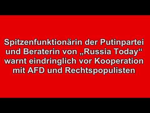 """Warnung vor AfD-Kooperation: Spitzenfunktionärin der Putinpartei u. Beraterin von """"Russia Today"""""""