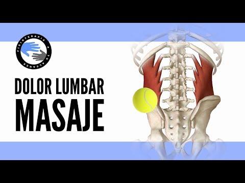 Masaje con pelota para el dolor lumbar