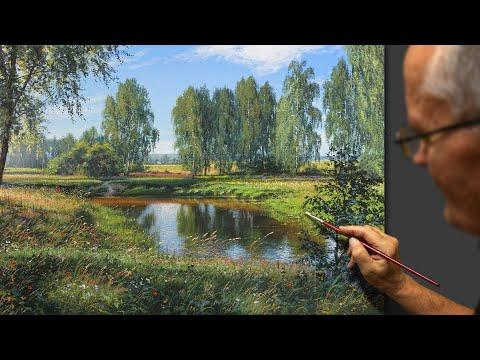 """Russia"" (Summer landscape) Acrylic. Artist - Viktor Yushkevich. #14 photos in 2020."