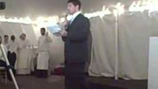 Genius Best Man Speech - Levitt/Albino Wedding(Incredible best man speech., 2008-06-30T14:56:02.000Z)