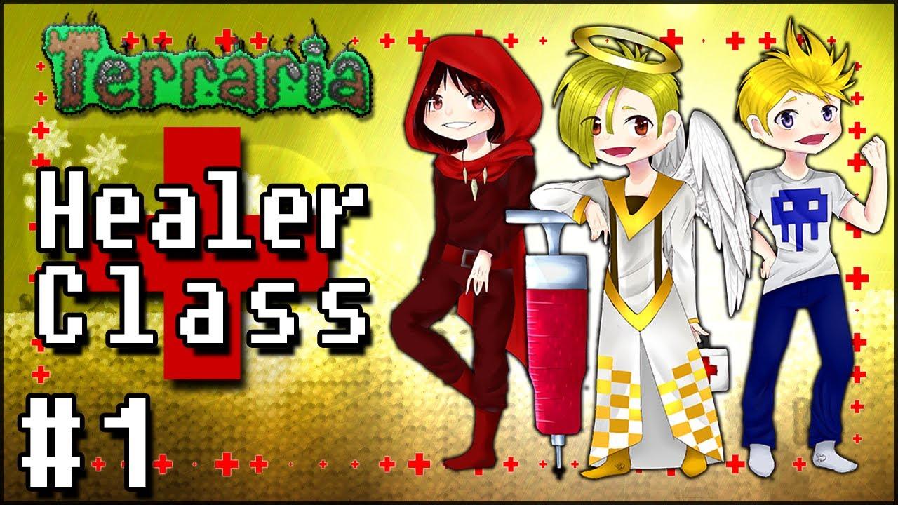 Terraria na Modach: Healer Class #1 - NAJLEPSZE TRIO W POLSCE! (Ryfek,  Mangetsuu i Merez)