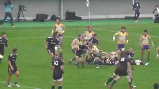 Japan Rugby Top League NTTコミニュケーションズ vs リコー 後半-1 ラグビートップリーグ 14 Nov. 2015