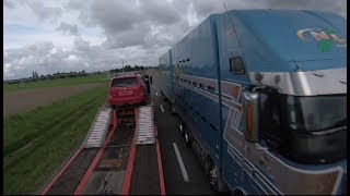 Geoffs Highway View :  Fairlie to Temuka 1 of 2   Freightliner