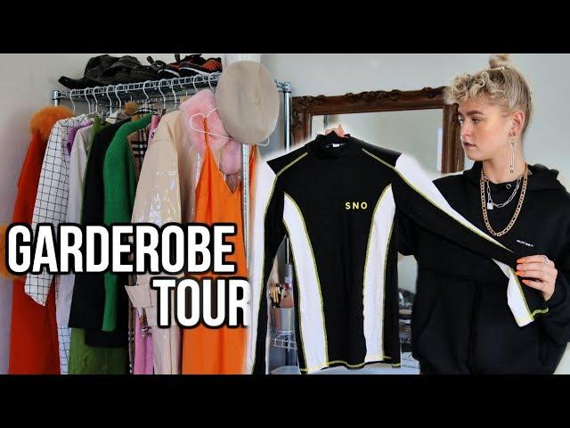 MIN GARDEROBE TOUR // Tøj, makeup, smykker og sko