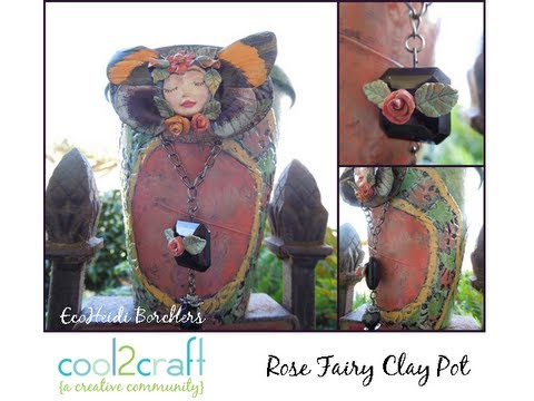 How to Decorate a Clay Pot with Doilies by EcoHeidi Borchers