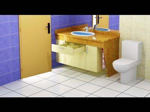 Como poner cajones debajo del lavabo youtube for Muebles para debajo del lavabo