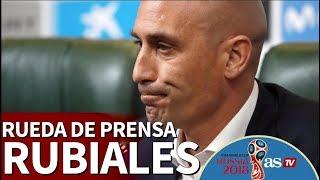 Mundial 2018 I Rueda de prensa de Rubiales: