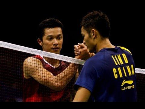 Highlights Badminton - Lin Dan vs Taufik Hidayat - 4 Kings -
