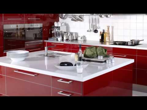 Cocinas rojas modernas - YouTube