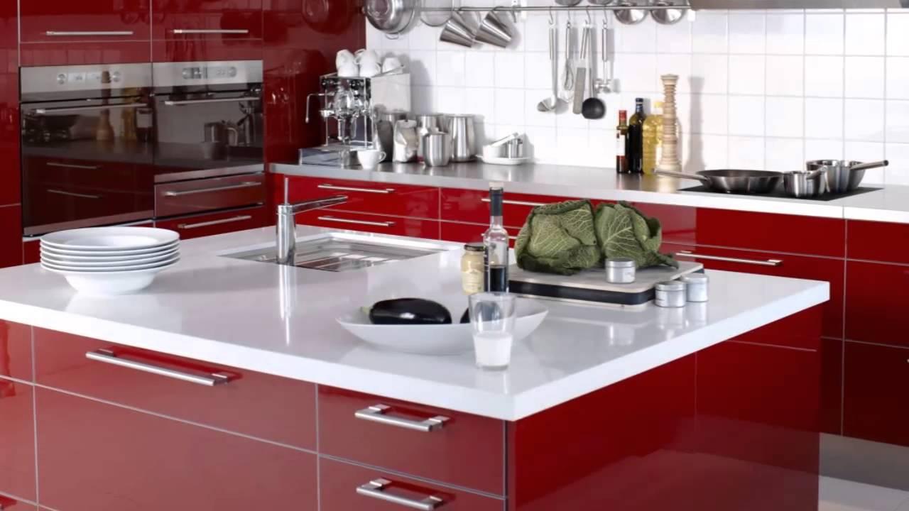 Cocinas rojas modernas youtube for Cocinas modernas youtube