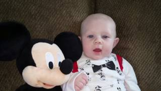 Elliott Four Months Old Dressed As Mickey Mouse