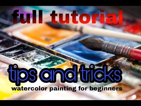 watercolour painting for beginners / full tutorial landscape painting / tips and tricks /