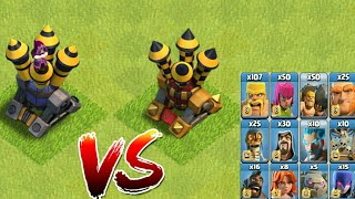 Air defence and Wizard tower VS All Troops - COC