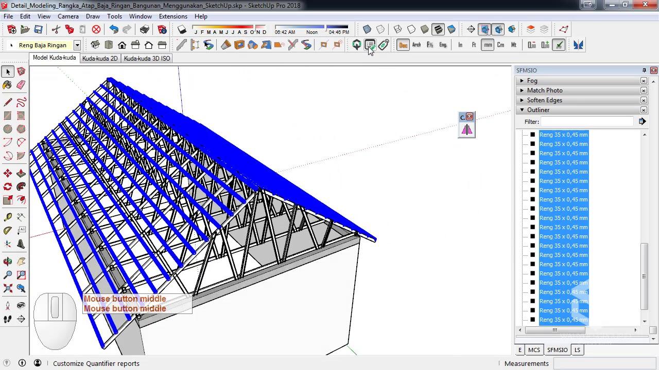 cara menghitung pemakaian baja ringan untuk atap rumah kebutuhan kaso dan reng dengan