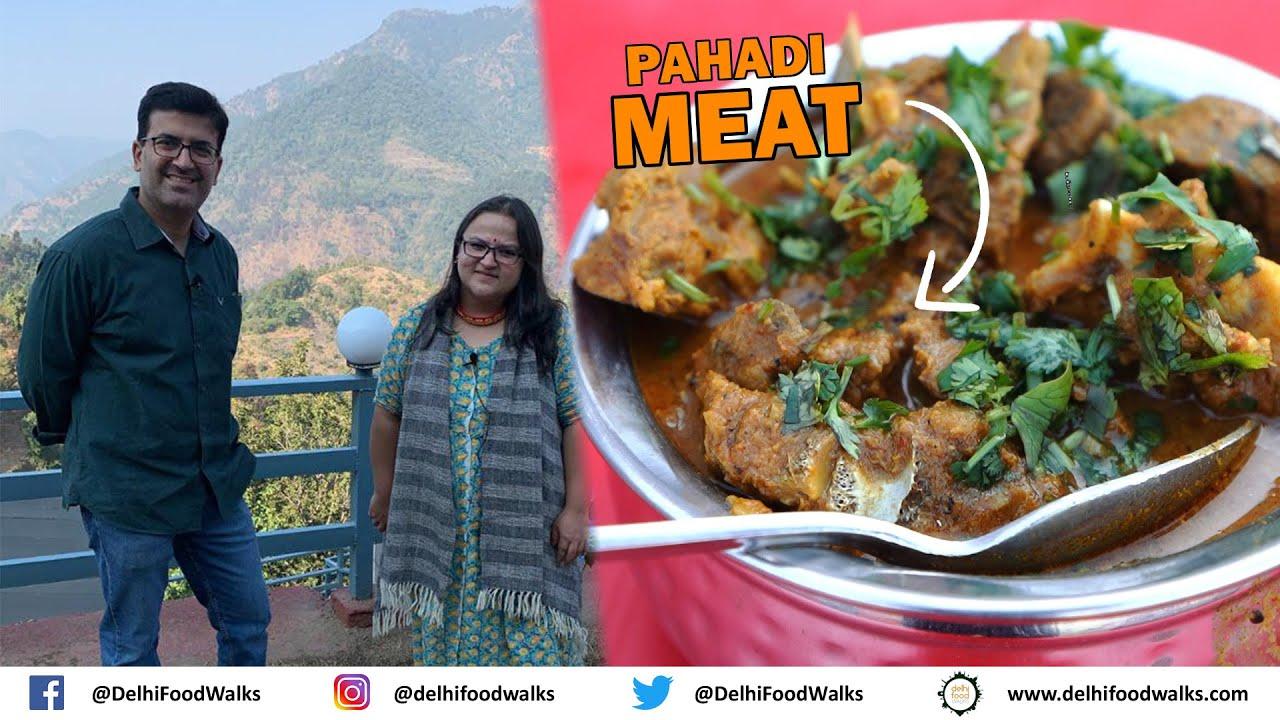 PAHADI NON VEG FOOD - BHUTWA (SPICY OFFAL / Organ Meats) + Pahadi MUTTON + ROAT + Jhangore Ki KHEER